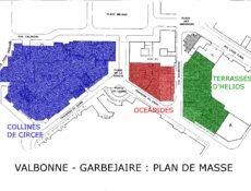 Plan de masse résidences Garbejaïre